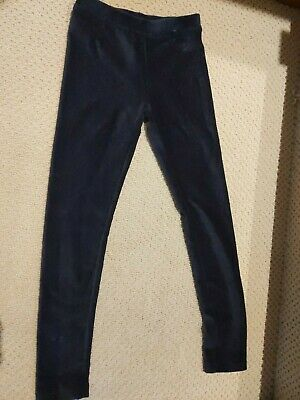 Jcrew Girls Crewcuts NEW Black Cozy Stetch cord Leggings Size 10