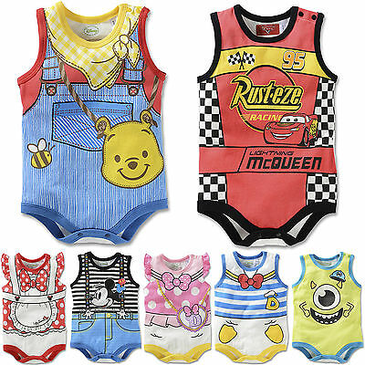 Baby Infant Boy Girls Cartoon Bodysuit Jumpsuit Romper Casual Outfits Set Summer