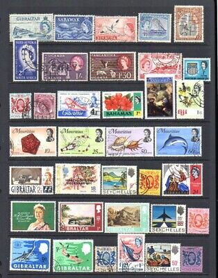 World Postage Stamps - Commonwealth Used/Fine Used Selection (36v).
