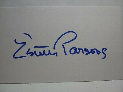 ESTELLE PARSONS Hand Signed Autograph 3X5 INSEX CARD ROSEANNE & BONNIE AND CLYDE