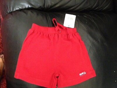 Mothercare Baby Girls Red Cotton Shorts For Age 0 - 3 Months BNWT