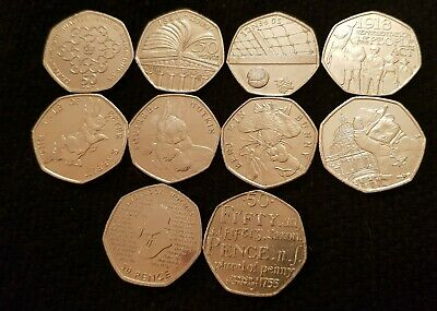 50p Coins Rare Fifty Pence Coins
