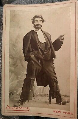 Newsboy Tobacco Vintage Old Cabinet Card C 1890 Actor As Hobo 117 Walter James