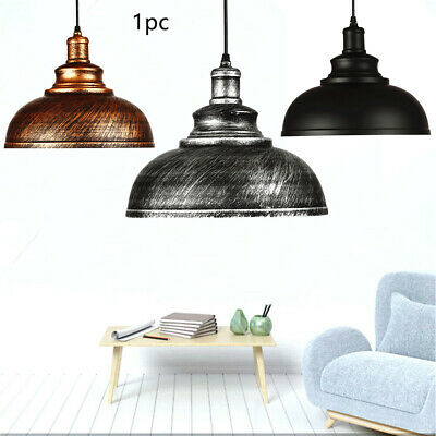 E27 Ceiling Lamp Vintage Industrial Metal Hanging Pendant Light Fixture