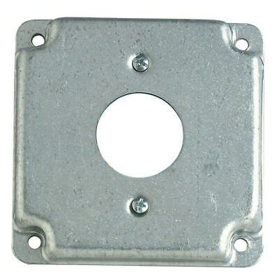 2 Gang 4 In. Square Metal Electrical Box Surface Cover Single Duplex Receptacle