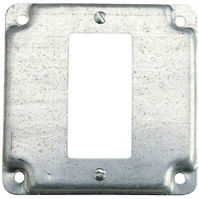 1 Gang 4 In. Square Metal Electrical Box Cover Single Gfci Receptacle Case Of 10