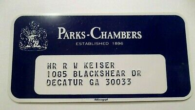 Parks Chambers Atlanta Ga Dept Store VTG Rare Collectors Credit Card Obsolete