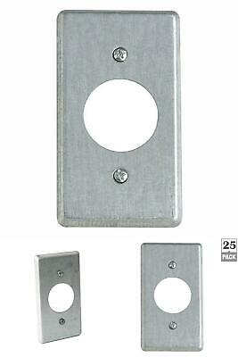 1 Gang 4 In. Metal Electrical Box Cover Single Round Receptacle Case Of 25
