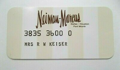 Neiman Marcus Texas Dept Store VTG Rare Collectors Credit Card Obsolete