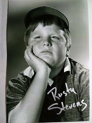 RUSTY STEVENS as LARRY  Hand Signed Autograph 4X6 Photo - LEAVE IT TO BEAVER