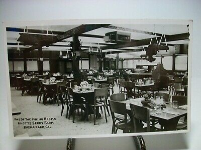 One Of The Dining Rooms Knotts Berry Farm Ca Rppc Real Photo Postcard