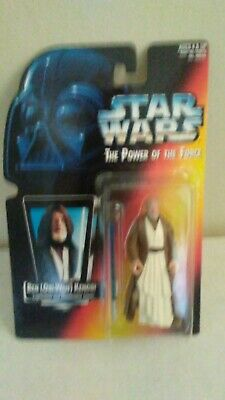 1995 Star Wars Power Of The Force Ben Obi-Wan Kenobi With The Lightsaber And...