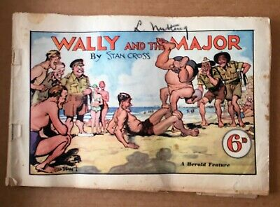 Vintage Wally and the Major Herald Feature Comic by Stan Cross - 1945 - 50 pages