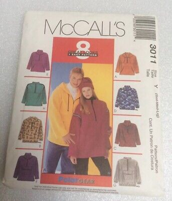 ADULT PULLOVER JACKET /& HEADBAND PATTERN S-XXL FF UNCIRCULATED McCALL/'S #8478