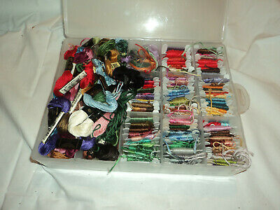 Embroidery threads on cards - assorted colours in embroidery box