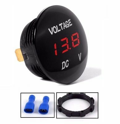 DC 12V-24V RED LED Panel Digital Voltage Meter Display Voltmeter Car Motorcycle