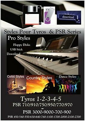 Styles pour Genos Tyros & PSR YAMAHA *CELTIC - COUNTRY - DANCE