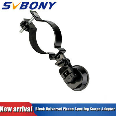 SVBONY Universal Cell Phone Adapter Clip Mount Monocular Support Compatible blk