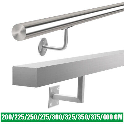 304-grade Brushed Stainless Steel Stair Handrail Metal Bannister Rail Unit Kit