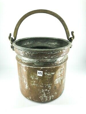 Old Bucket Copper with Handle Brass for Catching Water in the Well
