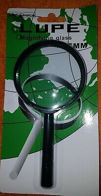 Lupe Magnifying Glass 75mm schwarz Best Choice Loupe