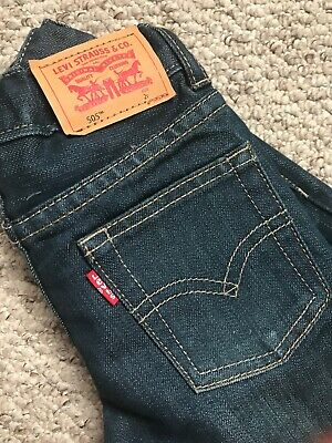 BOYS LEVI'S 505 BLUE WASH JEANS DENIM WAIST ADJUSTABLE SIZE 2years 2Y