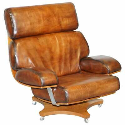 One Of A Kind Fully Restored Hand Dyed Brown Leather G Plan Housemaster Armchair