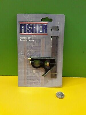 FISHER 411 Combination Square with Stainless Steel Blade 150mm (6in)