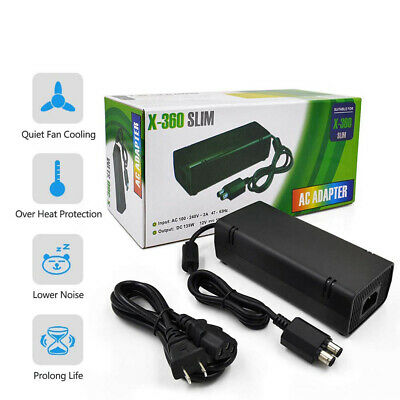 New Power Supply for Microsoft Xbox 360 Slim Brick Adapter UK Mains Charger AC