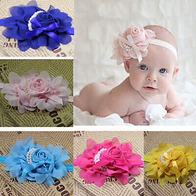 LD_ KE_ ALS_ Kids Baby Girl Toddler Rose Flower Headband Hair Band Headwear He