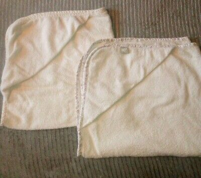 MOTHERCARE Baby Cream Hooded Towels x2 unisex boy girl