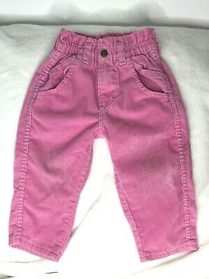 Vintage Oshkosh high waisted pants size 2T  made in the USA corduroy pink