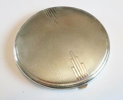 Antique Art Deco sterling silver ladies compact hallmarked 1933