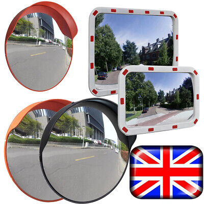 Outdoor Curved Wide Angle Convex Mirror Road Traffic Driveway Wide Angle Adjust
