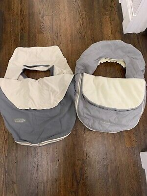 Lot Of 2- JJ Cole Car Seat Covers (Heavy & Lightweight)
