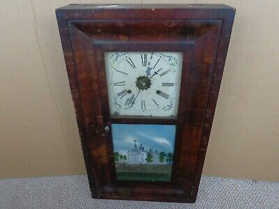 Antique E.n.welch Thirty Hour American Wall Clock (Restoration Project)