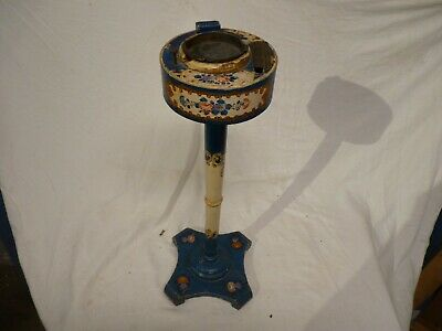 Rare Vintage Japanese Hand Painted Smokers Stand & Cigarette Dispenser, Ash Tray