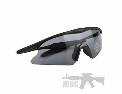 Airsoft Paintball Tactical Eye Protective Goggles High Visibility Safety - BLACK