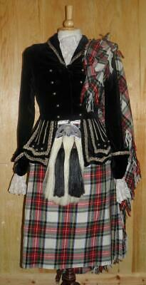 """Scottish Ladies 32"""" Chest Country Dancing Outfit With Shoes, Sporran & Scarf Etc"""