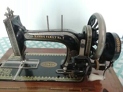 Harris Family Number 2 Vintage Hand Crank Sewing Machine