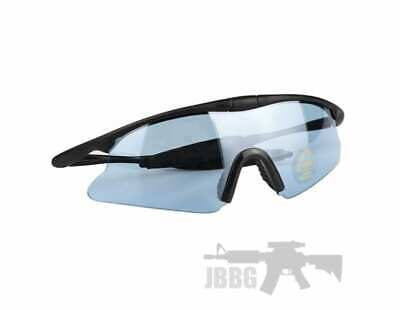 Airsoft Paintball Tactical Eye Protective Goggles High Visibility Safety - BLUE