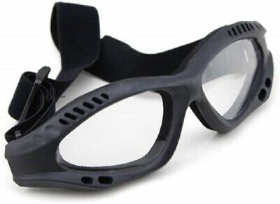Airsoft Paintball Eye Safety & Protective Clear Goggles Glasses Tactical - Black