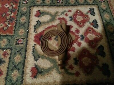 Antique Brass Gong Post from Newhaven British Jerome Movement Mantel Clock