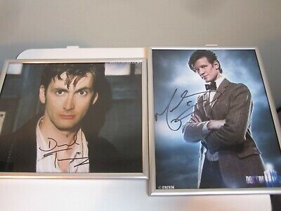 Matt Smith authenticated photo/autograph 10 x 8 David Tennant Genuine Autograph