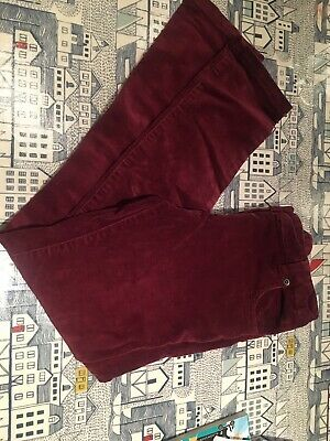 John Lewis Girls Maroon Velvet Cords Trousers Jeans Pants Age 10 Vgc 🤩🤩🤩🤩