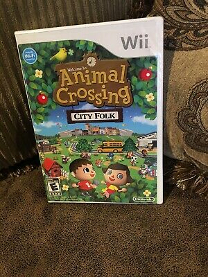 Animal Crossing: City Folk (Wii, 2008) 1st Printing *NOT* Nintendo Selects *NEW*