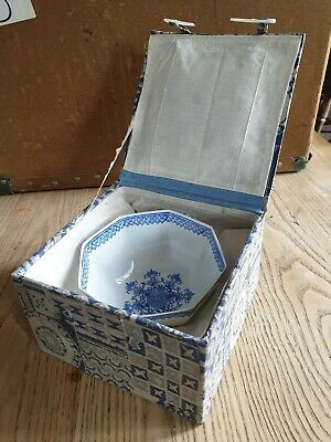 Antique/Vintage Oriental Chinese eggshell china hand painted small bowl..boxed