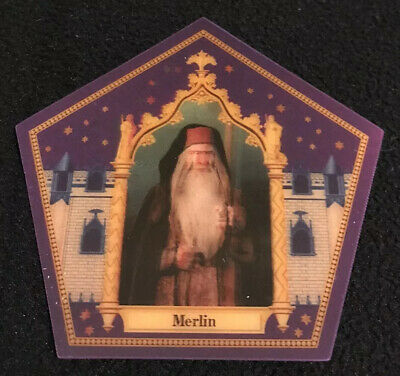 Harry Potter chocolate frog card NEW Merlin Rare Limited Edition