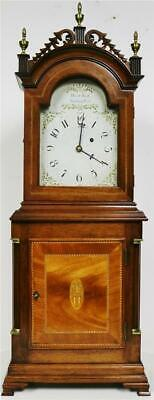 Stunning David Wood Of Newbury Port Mahogany Weight Driven American Shelf Clock