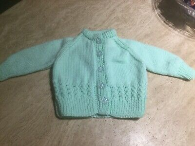 Baby Girls Hand Knitted Cardigan Brand New Size  3 Months
